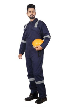 Reflective coverall- Navy Blue